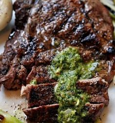 Spicy garlic cilantro sauce cube steak recipe is zesty and delicious while filled with protein and only 1 carb.