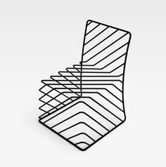 Japanese design studio, Nendo, created these original looking chairs as part of a 'Black Wire Furniture' exhibition in London this month. Quite trippy if you stare at it for a while…
