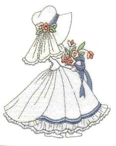 Sunbonnet Sue wedding dress