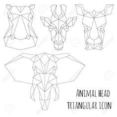 previews.123rf.com images yazzik yazzik1601 yazzik160100037 52156218-Animal-head-triangular-icon-geometric-trendy-line-design-Vector--Stock-Photo.jpg