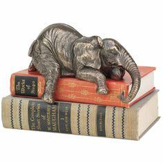 Amazon.com - Ernest the Lounging Elephant Sitting Statue - Elephant Shelf Sitter
