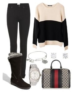 """Untitled #105"" by maeruiz27 on Polyvore featuring Acne Studios, Aquatalia by Marvin K., Ash Rain + Oak, Rolex, Gucci and Alex and Ani"