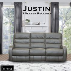 Justin Recliners are easy on the pocket but heavy in features. These recliners are crafted with leather air. Leather air is an artificial leather pasted on a thick fabric which increases the durability and is more breathable as compared to others. Ultra cushioned seats and recliner give you the most comfortable feeling.