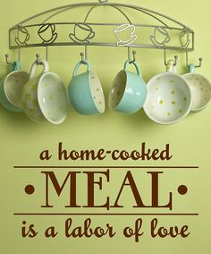 There is no better way to show someone  how much they are loved than to take the time to cook a meal for them!!! Foodie Quotes, How To Can Tomatoes, Beach Bars, Cook At Home, Vinyl Wall Art, Wall Quotes, Fun Quotes, Vintage Recipes, Step By Step Instructions