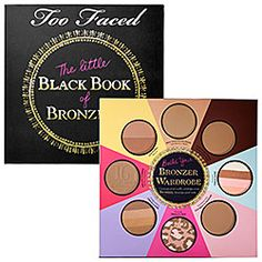 This limited-edition #bronzer collection includes eight full-size bronzers for all of your skincare needs. It makes a great gift and comes in a super cute Little Black Book. #Sephora #TOOFACED