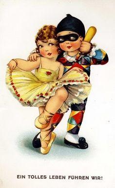 (426x699, 98Kb) Vintage Postcards, Vintage Images, Old Cards, Decoupage Paper, Digital Image, Vintage Prints, Cloud, Illustration Art, Scrap