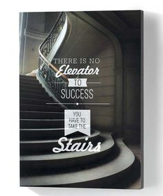'Elevator to Success' Wall Canvas