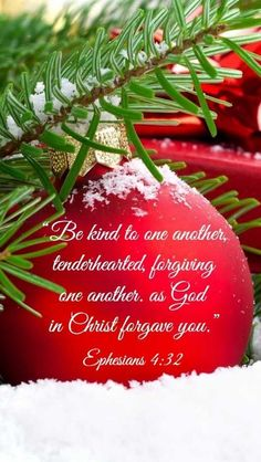 Ephesians (ESV) - Be kind to one another, tenderhearted, forgiving one another, as God in Christ forgave you.