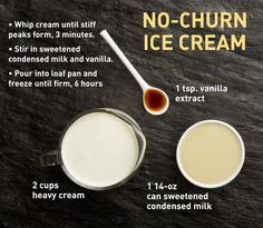 No-Churn Vanilla Ice Cream - Make ice cream without a special machine.