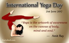 "Sri Sri Ravi Shankar says, ""Yoga is not just exercise and asanas. It is the emotional integration and spiritual elevation with a touch of mystic element, which gives you a glimpse of something beyond all imagination."" Happy #InternationalYogaDay #Yoga #Healthy #Body #Mind #WorldYogaDay #practiceyoga"