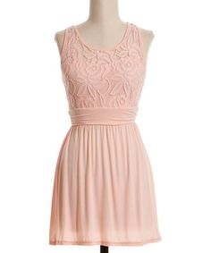 Peach Lace Racerback Dress by Coveted Clothing #zulilyfinds