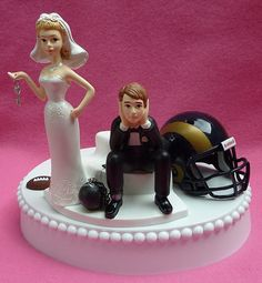 Wedding Cake Topper St Louis Rams Football Themed Saint by WedSet, $59.99