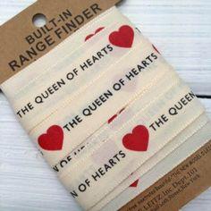 British Queen of Hearts Ribbon 3m www.funkyfabrix.com.au