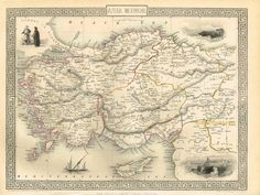 Asia Minor - Turkey - Antique Maps and Charts – Original, Vintage, Rare Historical Antique Maps, Charts, Prints, Reproductions of Maps and Charts of Antiquity
