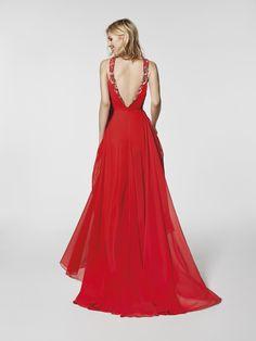 Red cocktail dress - Long dress GRAMA - sleeveless   Pronovias