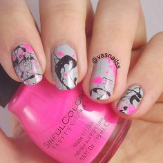50 Best Splatter Nail Ideas Images On Pinterest Pretty Nails