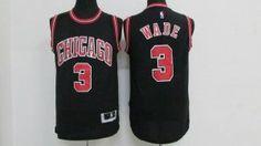 Chicago Bulls Jersey Dwyane Wade #3 Black Jersey [J71]