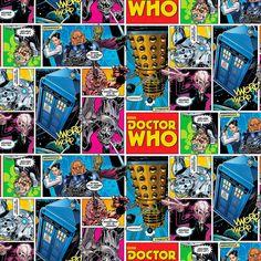 Dr. Who Stoff - Doctor Who Comicstrip Superheldenstoff