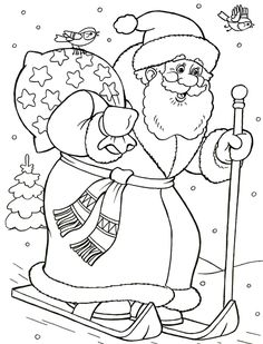 Christmas Tree Coloring Page, Christmas Coloring Sheets, Coloring Sheets For Kids, Colouring Pages, Coloring Books, Illustration Noel, Illustrations, Christmas Colors, Christmas Crafts