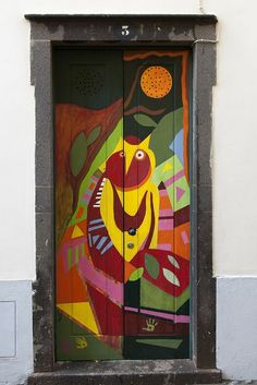 Door in Madeira, Portugal