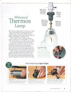 How To make a Lamp from an old Thermos