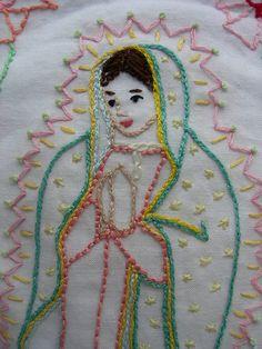 LA VIRGEN DE GUADALUPE~Tea towel Mary