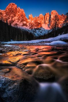 ponderation: Sunset at the Dolomites by Nicholas Roemmelt