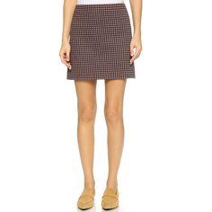 Theory Palmetto Knit Kerash Skirt ($215) ❤ liked on Polyvore
