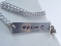 Hand Stamped Dream Necklace by Kre8vStudioz on Etsy