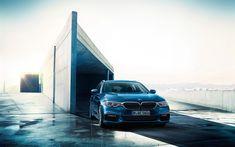 Lataa kuva BMW 5-sarjan Touring, 2017 autot, G31, uusi 5-sarja, saksan autoja, BMW