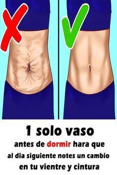 1 solo vaso antes de dormir hara que al dia siguiente notes un cambio en tu vientre y cintura #Salud #Caseros #Remdios #Recetas