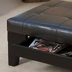 Ottoman with drawer.