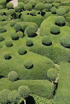 Topiary garden in France