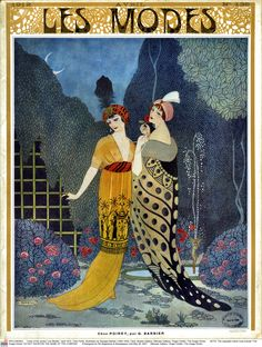 Chez Paul Poiret illustrated by George Barbier, cover of <i>Les Modes</i>, April 1912. ©Musee Galliera / Roger-Viollet / The Image Works
