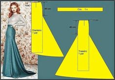 Pattern making - beautiful maxi skirtPattern instructions for a mermaid skirt.Discover thousands of images about Mermaid Dress Patternr/sewing - I found these ideas interestingStraight skirt with tail Techniques Couture, Sewing Techniques, Pattern Cutting, Pattern Making, Dress Sewing Patterns, Clothing Patterns, Sewing Tutorials, Sewing Hacks, Sewing Crafts