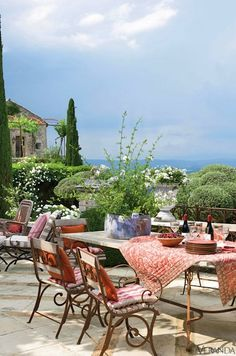 this is like the terrace in the novel SUMMER OF FIRE - Kitty Pilgrim - release date May 2015