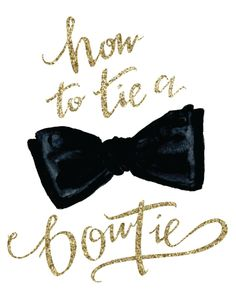 How to Tie a Bow Tie (or 'Tie Him Up') from Annie Dean  Read more - http://www.stylemepretty.com/living/2013/09/10/how-to-tie-a-bow-tie-or-tie-him-up-from-annie-dean/