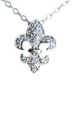 Fleur-de-Lis Royal Solitaire Necklace.