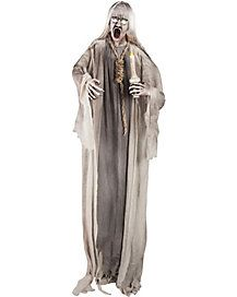 55 ft standing ghoul with candle and noose decorations halloween