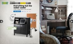 Everything but the watercooler. Create a satellite office in your own space. #IKEA #PinToWin For new office and new job