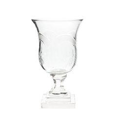 ваза на ножке кубок прокат аренда стеклянный прозрачный декор свадьба москва