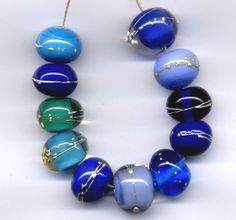 Shades of blue marbles on a necklace Something Beautiful, Something Blue, Types Of Blue, Blue Shades Colors, Persian Blue, Mood Indigo, Blue Pearl, Love Blue, Color Theory