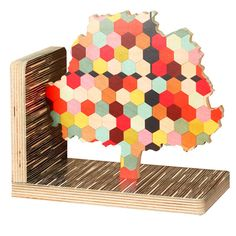 honeycomb tree bookend
