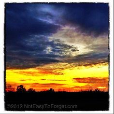 Nice welcome to the weekend! North GA sunset.