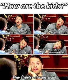 Misha as a dad- aww lol