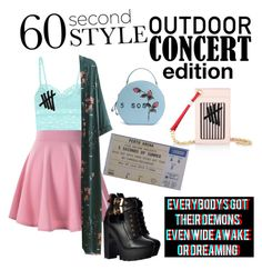 """""""5sos concert"""" by arra-corvus ❤ liked on Polyvore featuring Cosabella, WithChic, 60secondstyle and outdoorconcerts"""