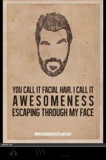 My husband's beard.