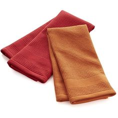 Crate & Barrel Set of 2 Red Waffle-Terry Dish Towels (134.915 IDR) ❤ liked on Polyvore featuring home, kitchen & dining, kitchen linens, red dish towels, crate and barrel, terry dish towels, lint free dish towels and terry cloth dish towels