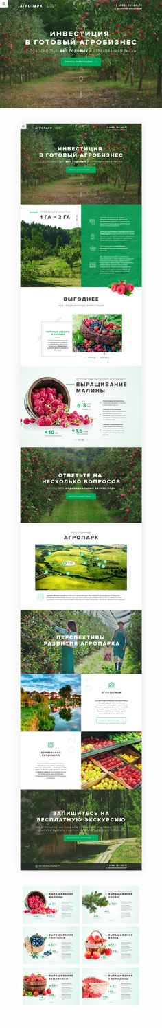 agribusiness & agriculture theme onepage Template on Behance