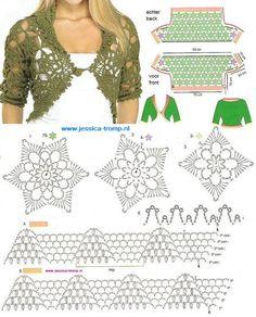 boleros tejidos a crochet bajar patrones gratis - Buscar con Google